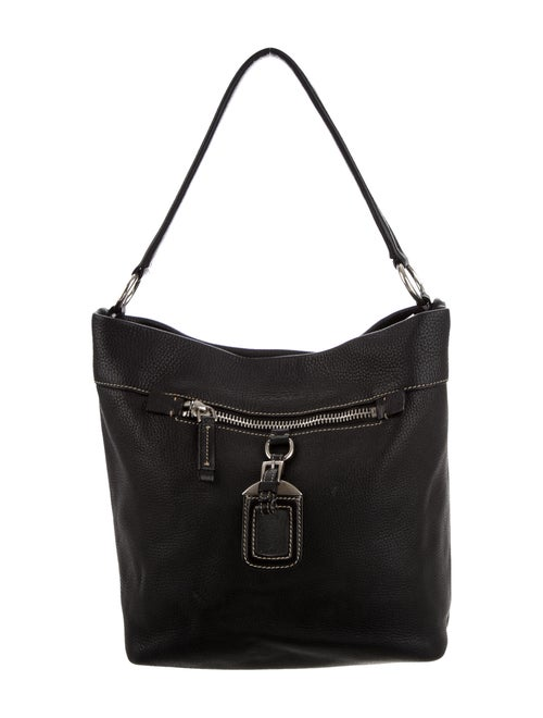 Prada Vitello Daino Hobo Black