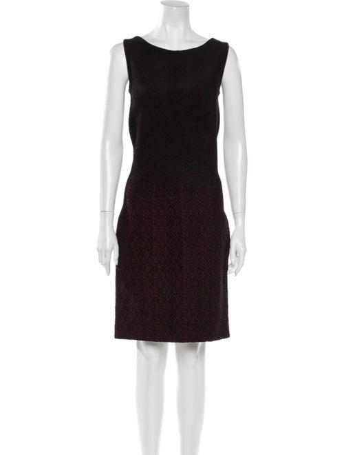 Prada Animal Print Knee-Length Dress