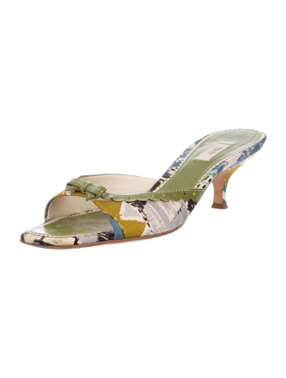 Prada Printed Sandals Green - image 2