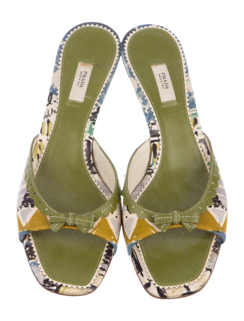 Prada Printed Sandals Green - image 3