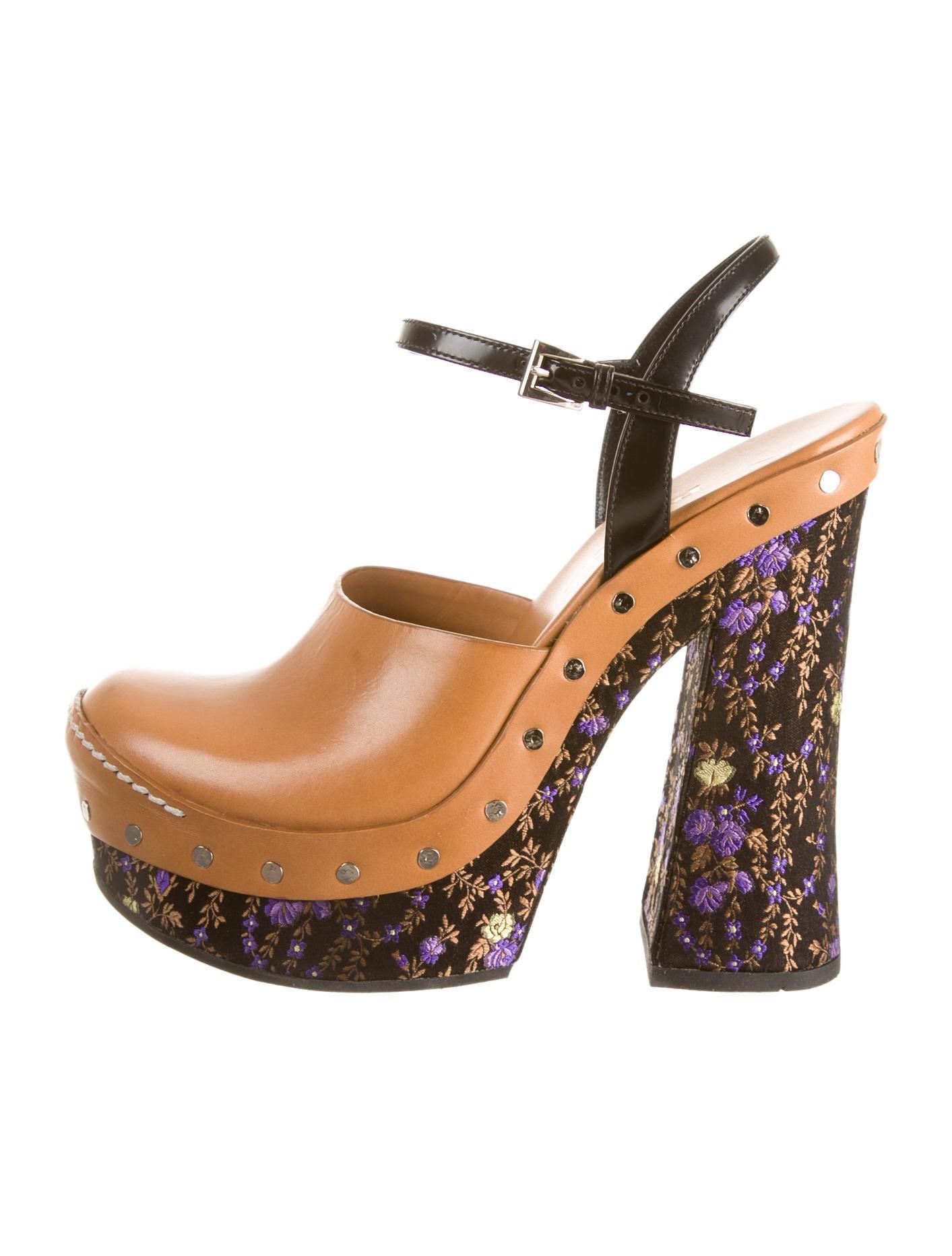 cf2526353f03b5 Prada Platform Clogs - Shoes - PRA40710