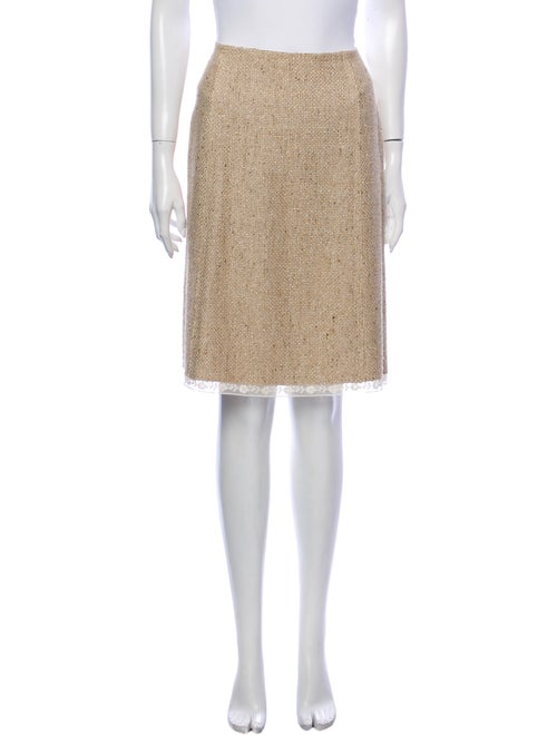 Prada Knee-Length Skirt Metallic