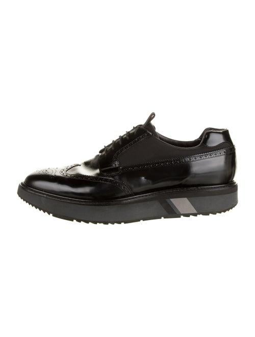Prada Brogue Platform Derby Shoes black