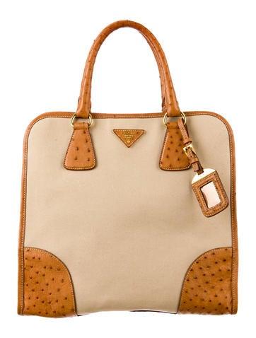 2e8ed44856bd ... discount code for prada canapa struzzo tote handbags pra41048 the  realreal d463d 55e2d