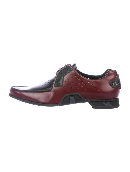 Prada Leather Derby Shoes red