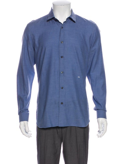 Prada Woven Dress Shirt