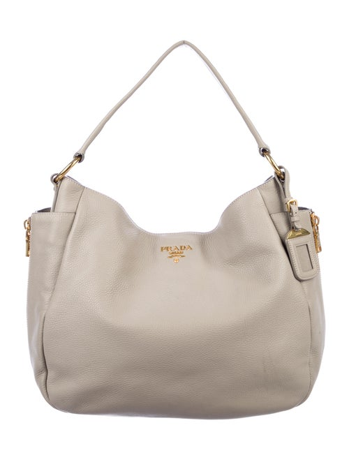 Prada Vitello Daino Hobo Grey