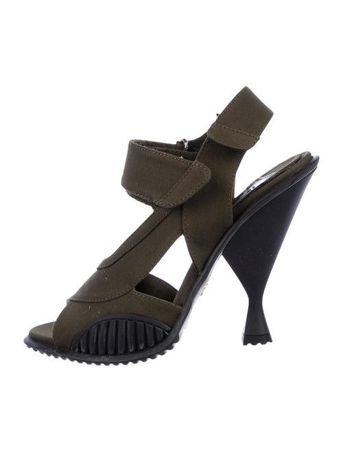 Prada Slingback Sandals Green