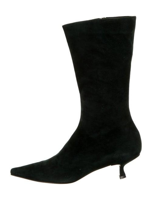 Prada Suede Sock Boots Green