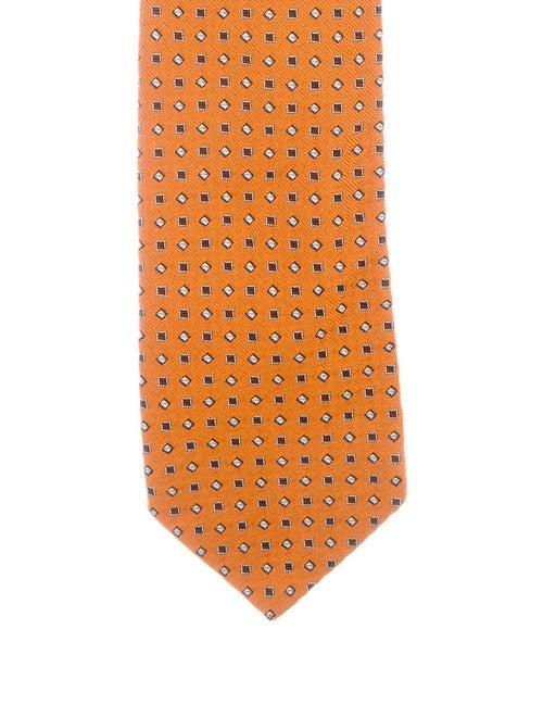 Prada Silk Jacquard Tie orange