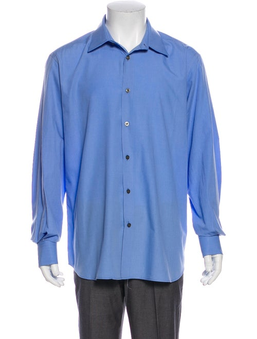 Prada Long Sleeve Dress Shirt Blue