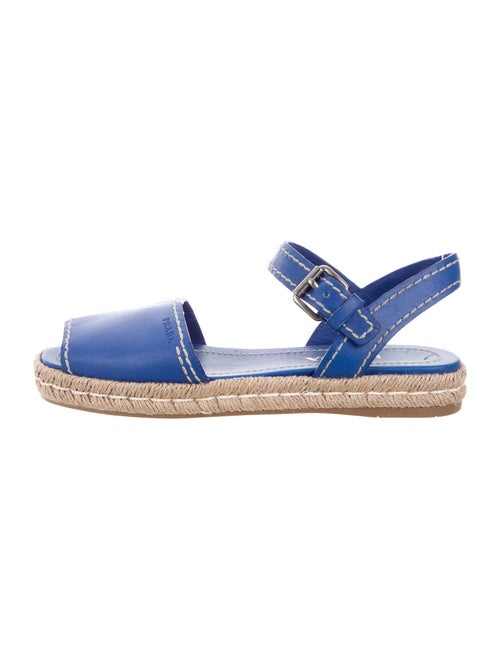 Prada Leather Espadrilles Blue