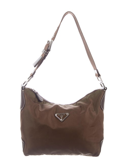 Prada Tessuto Nylon Hobo Brown