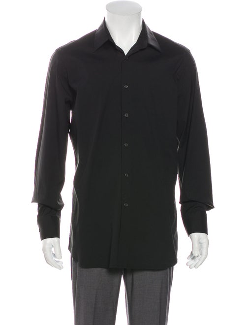 Prada Long Sleeve Dress Shirt Black