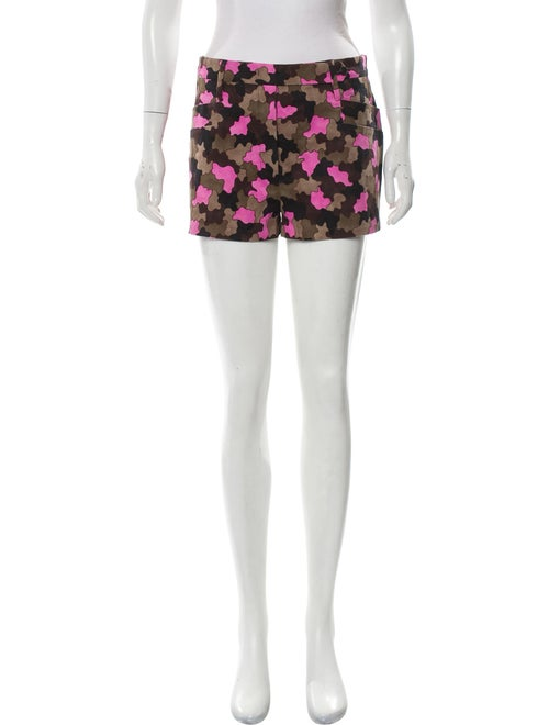 Prada Camouflage High-Rise Shorts Pink
