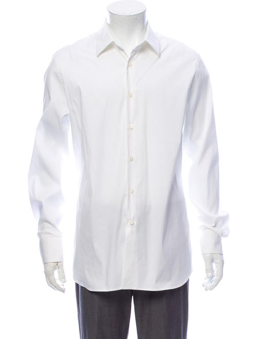 Prada Long Sleeve Dress Shirt White