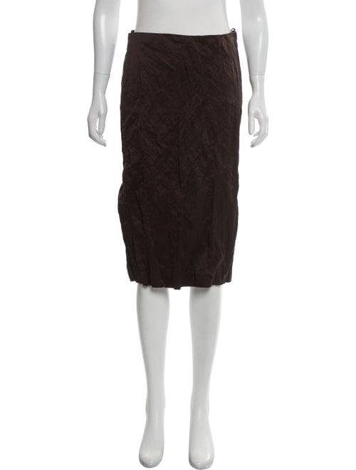 Prada Knee-Length Pencil Skirt Brown