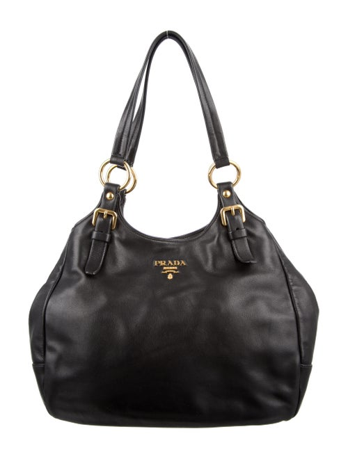 Prada Soft Calf Hobo Noir