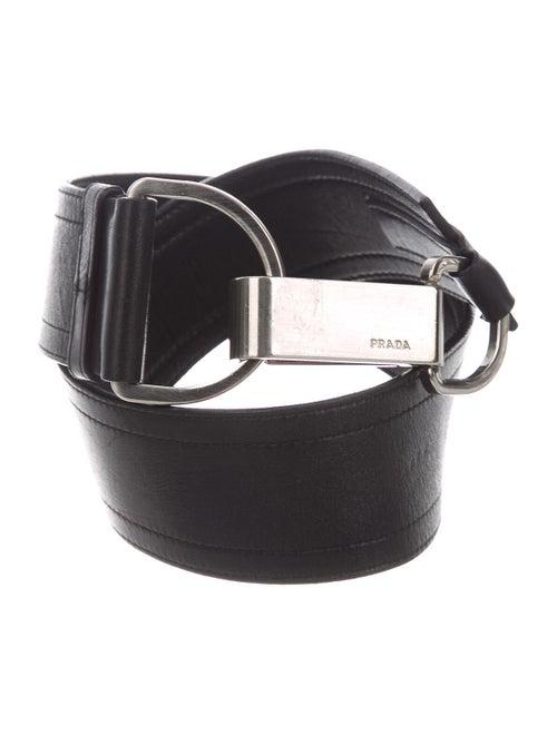Prada Leather Hip Belt Black - image 1