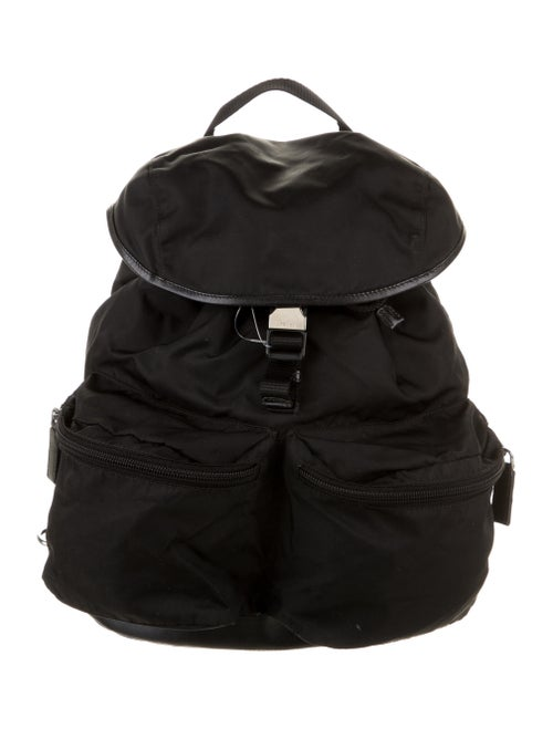 Prada Nylon Tessuto Backpack Black