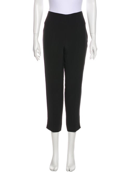 Prada Silk Straight Leg Pants Black