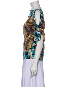 Prada Silk Printed Blouse