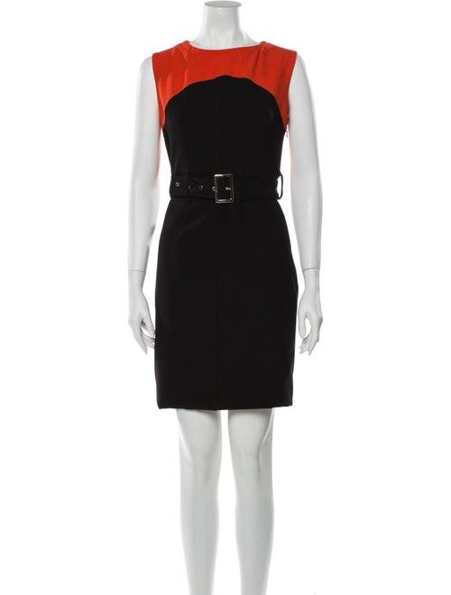 Prada Silk Mini Dress Black