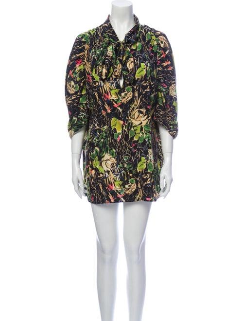 Prada Silk Mini Dress Green