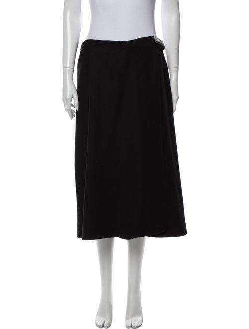 Prada Wool Knee-Length Skirt Wool