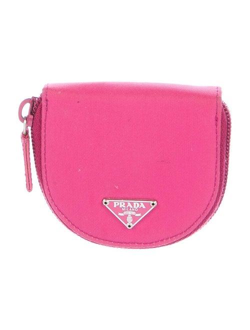 Prada Nylon Coin Purse Pink