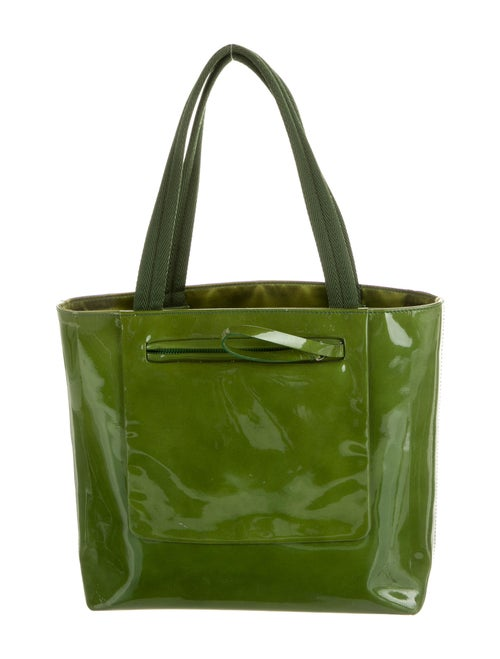 Prada Spazzolato Top Handle Bag Green
