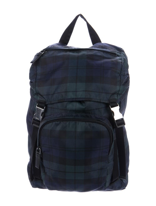 Prada Nylon Plaid Backpack multicolor