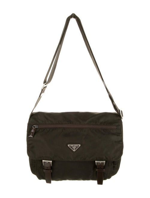 Prada Tessuto Messenger Bag green