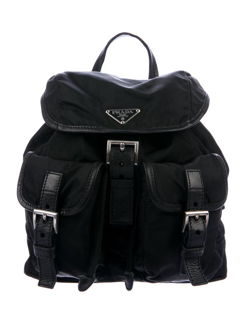 Prada Vela Nylon Backpack Black