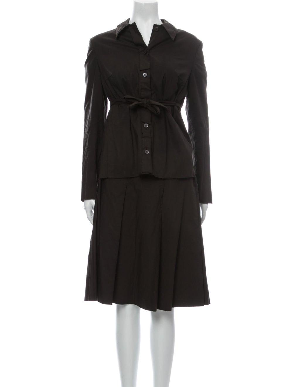 Prada Vintage 1990's Skirt Set Brown - image 1