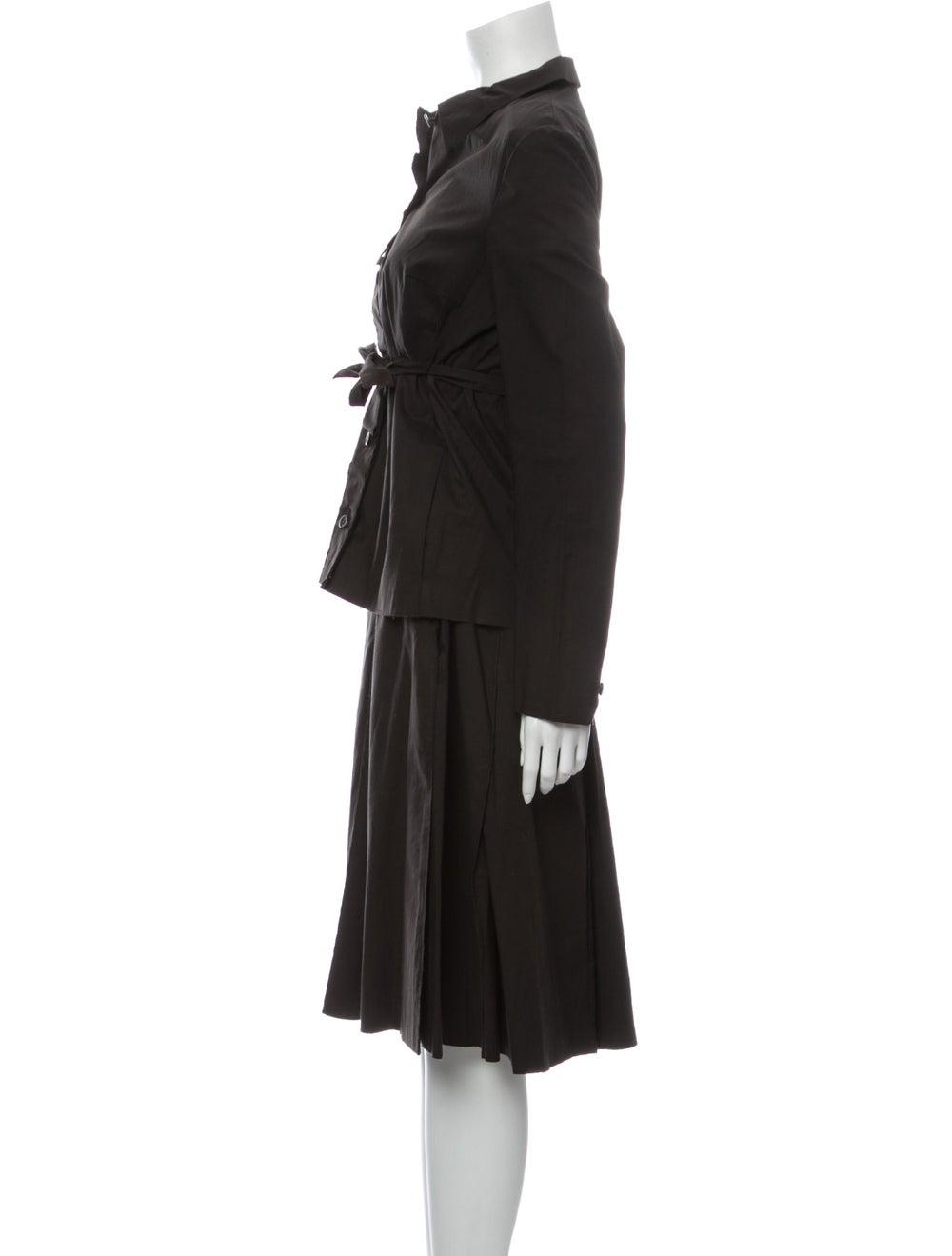Prada Vintage 1990's Skirt Set Brown - image 2