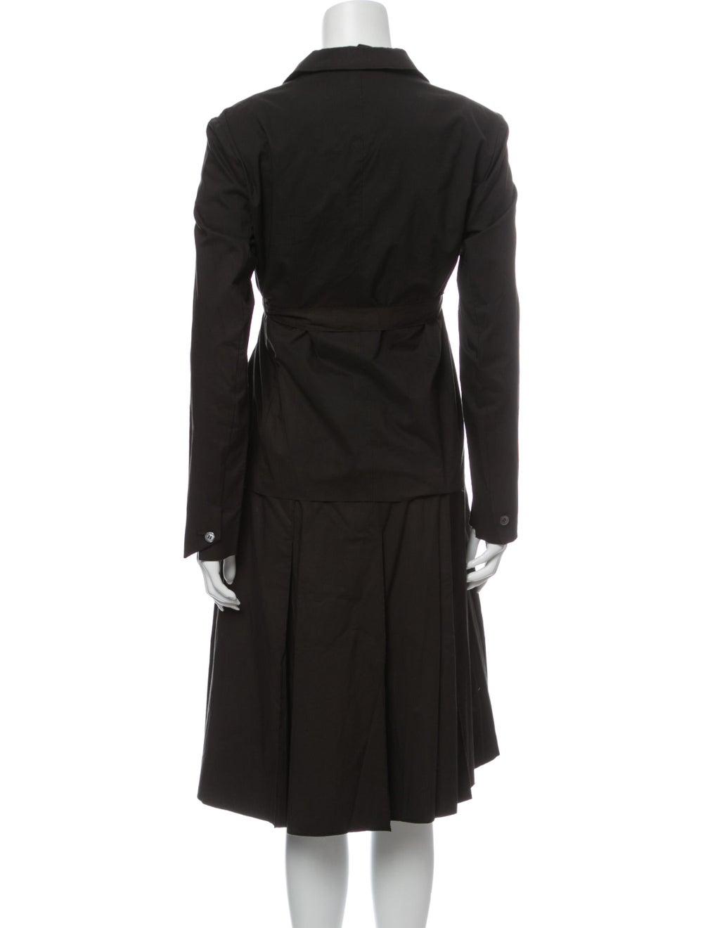 Prada Vintage 1990's Skirt Set Brown - image 3