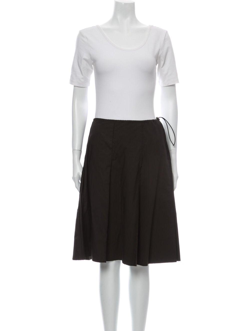 Prada Vintage 1990's Skirt Set Brown - image 4