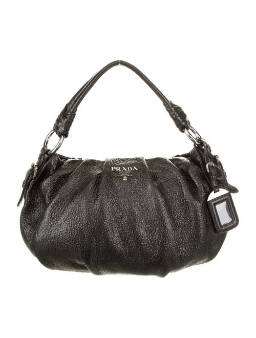 Prada Vitello Lux Hobo Black