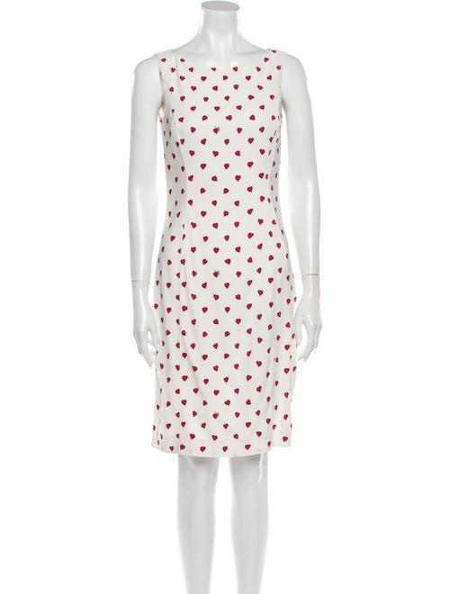 Prada Printed Knee-Length Dress White