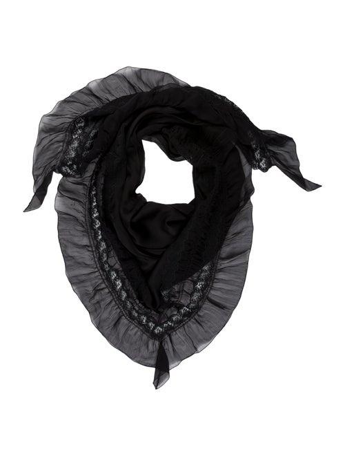 Prada Silk Woven Scarf w/ Tags Black