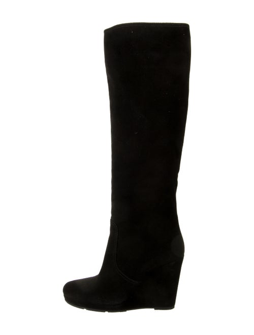 Prada Calf Leather Boots Black