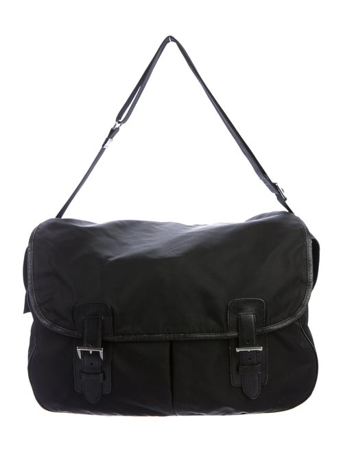 Prada Vintage Tessuto Messenger Bag Nero