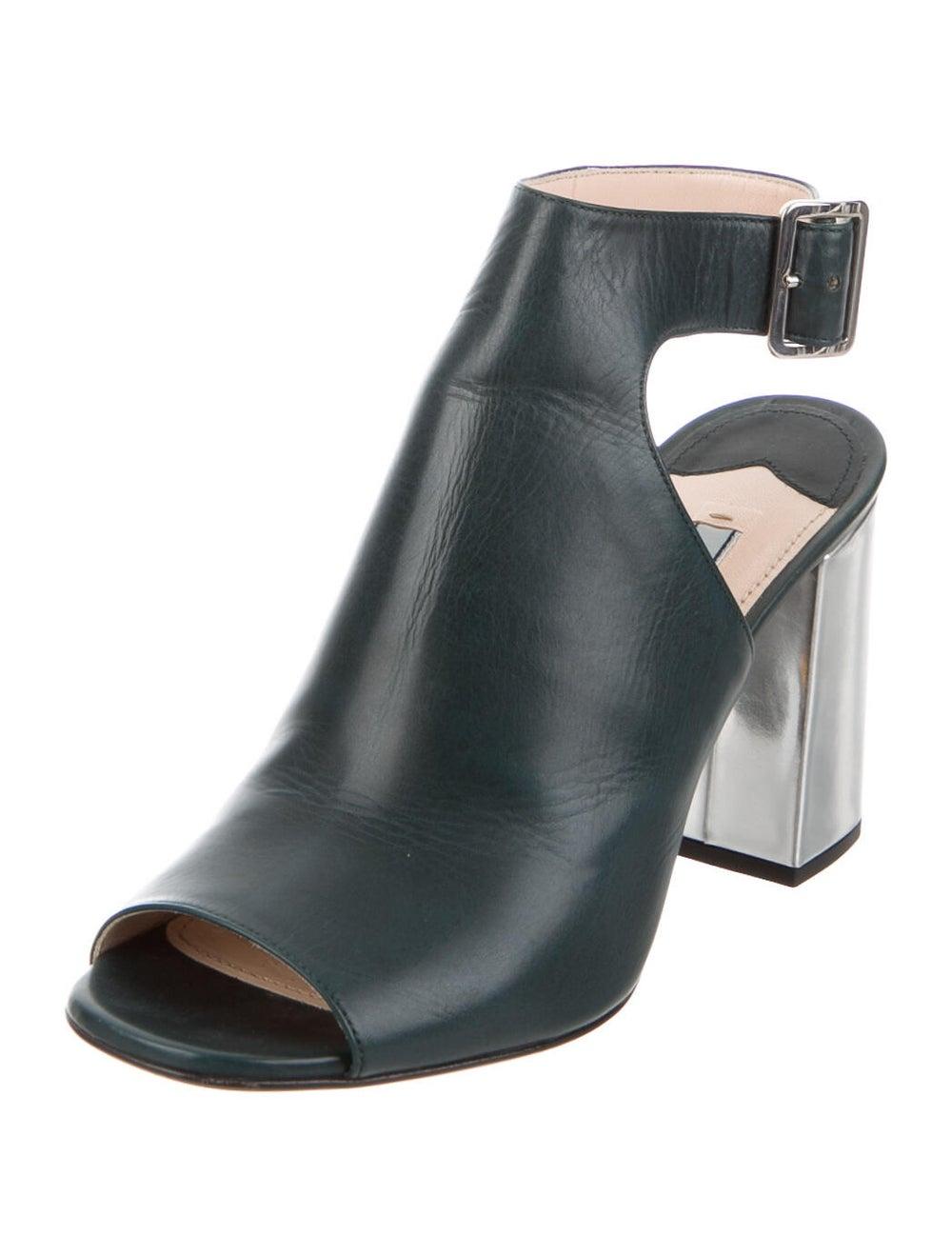 Prada Leather Boots Green - image 2