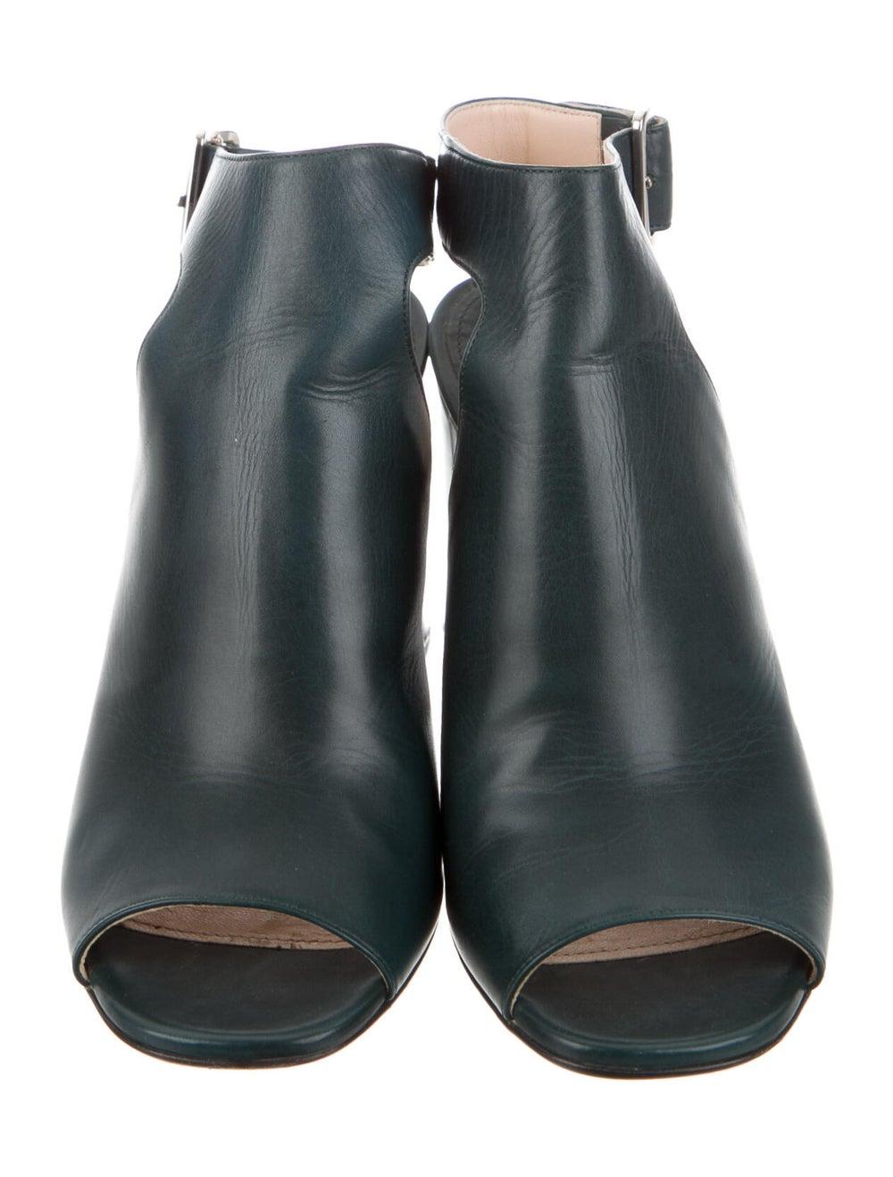 Prada Leather Boots Green - image 3