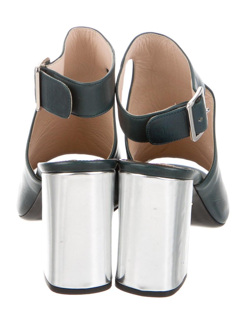 Prada Leather Boots Green - image 4