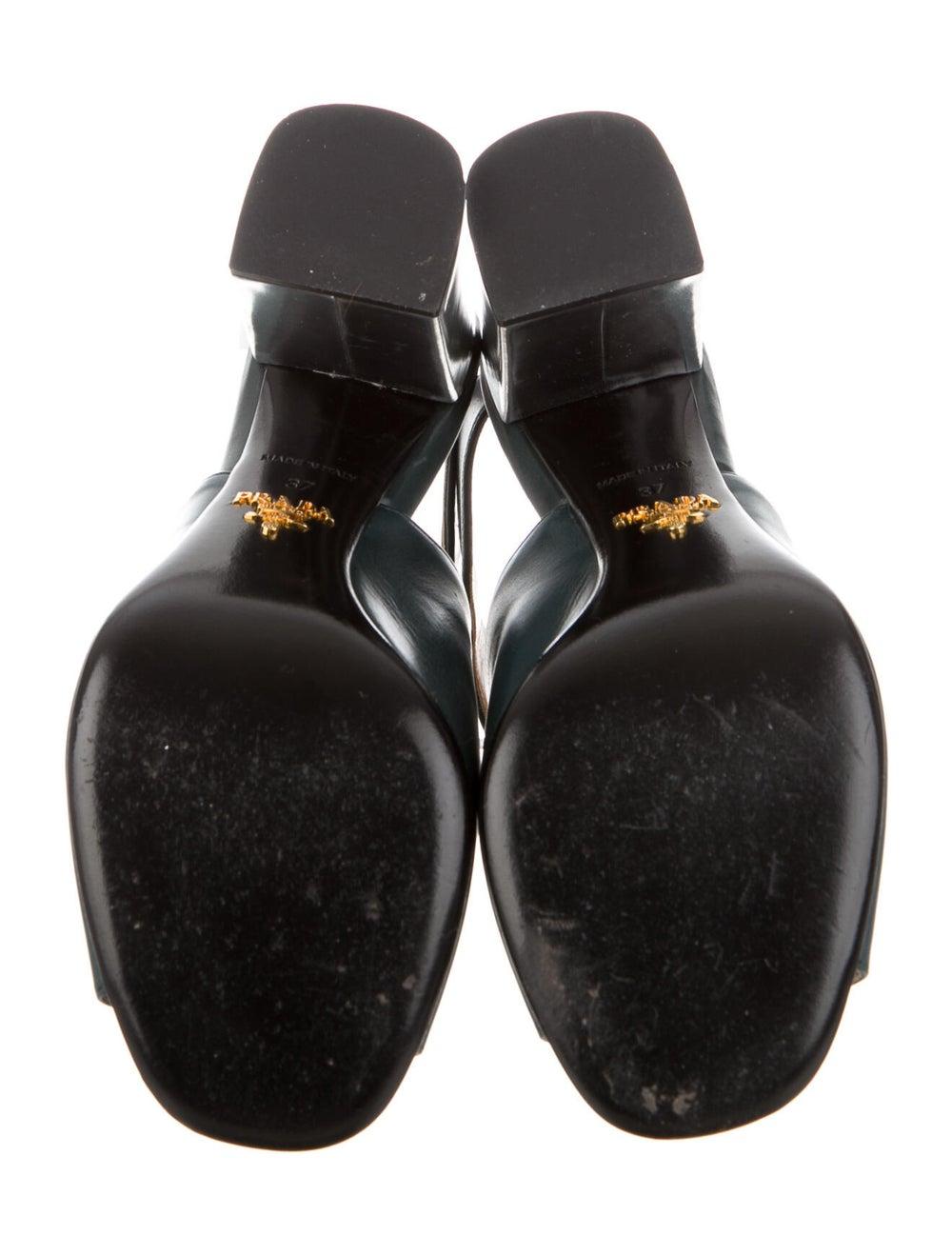 Prada Leather Boots Green - image 5