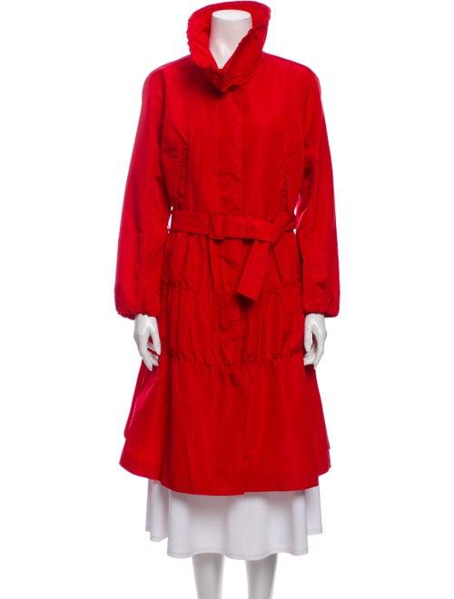 Prada Faux Fur Coat Red