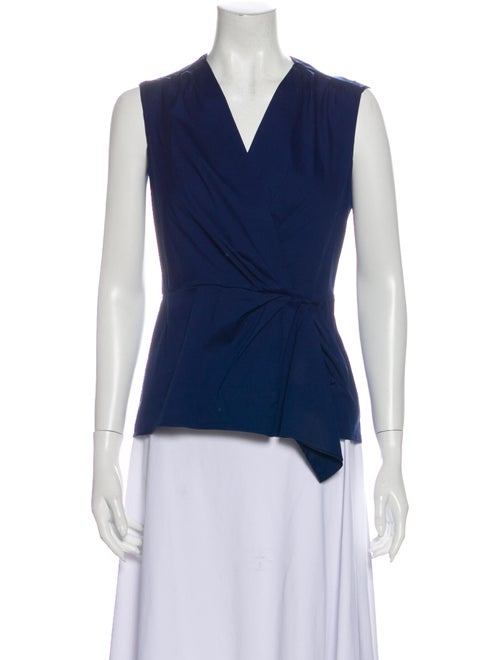 Prada V-Neck Sleeveless Top Blue