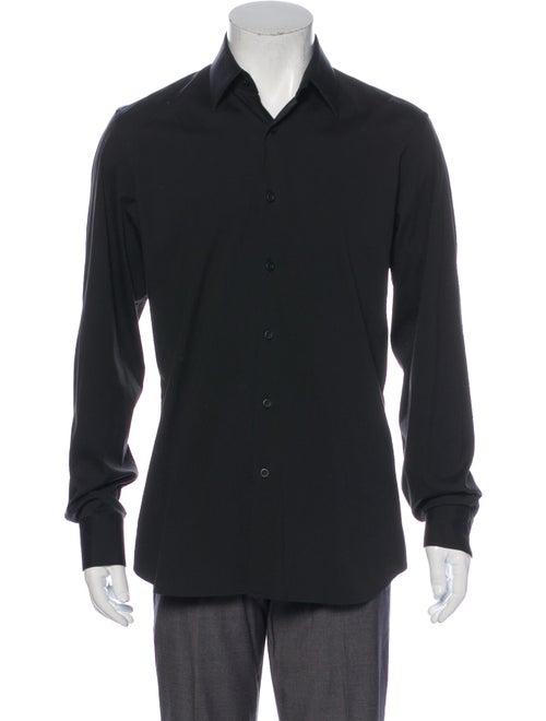 Prada Long Sleeve Dress Shirt Black